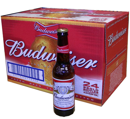 Budweiser 24-330ML Bottles
